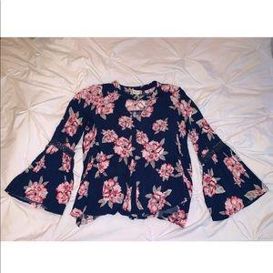Atrd state bell sleeve blouse
